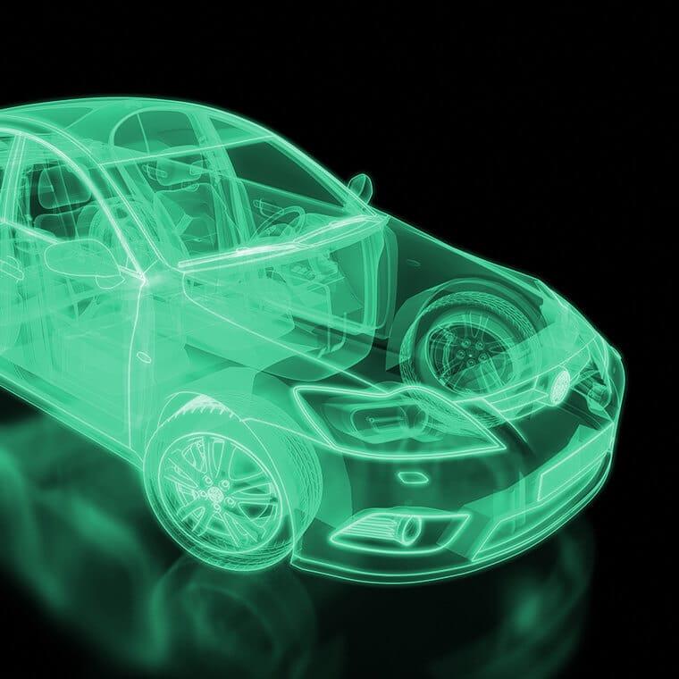 "Alt=Anlaufmanagement in E-Mobilitätslieferketten. Digitales Auto."""